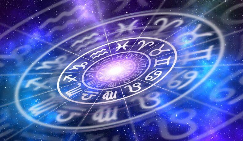 Planșă a zodiilor pentru Mercur Retrograd în timp ce sunt arătate zodiile într-un cerc