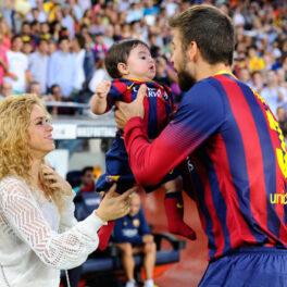 Shakira, Pique și fiul lor la meciul de fotbal