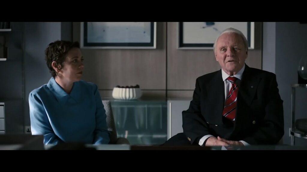 Anthony Hopkins și Olivia Colman în The Father