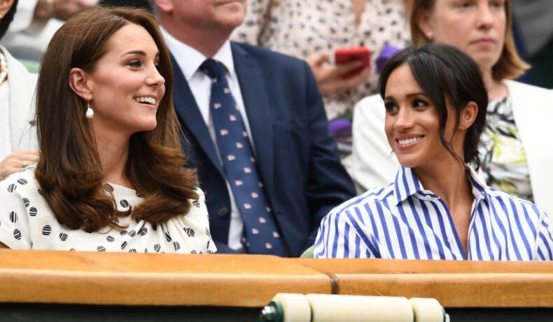 Kate Middleton și Meghan Markle în tribune la un eveniment