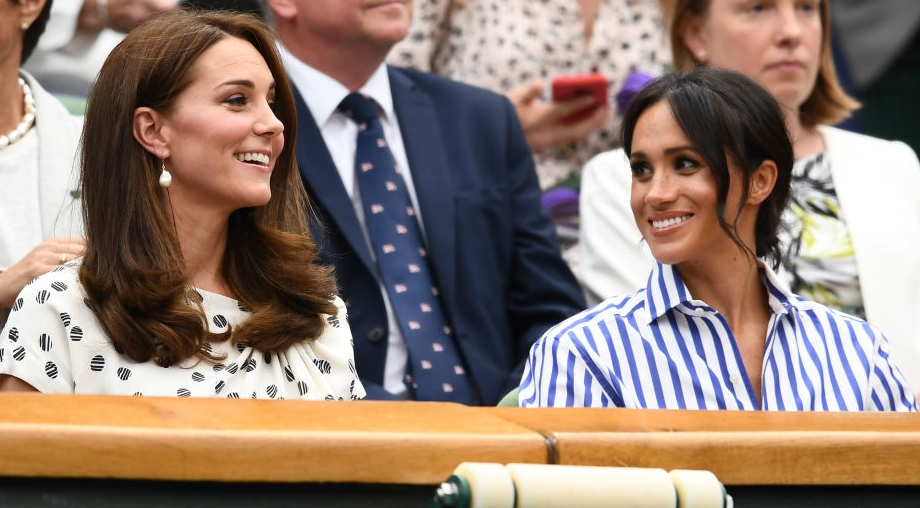 Kate Middleton și Meghan Markle în tribune la un eveniment