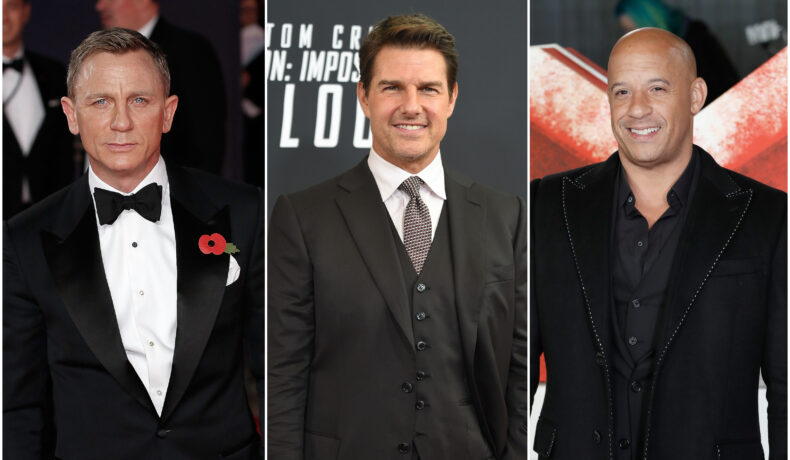Colaj cu Daniel Craig, Tom Cruise și Vin Diesel