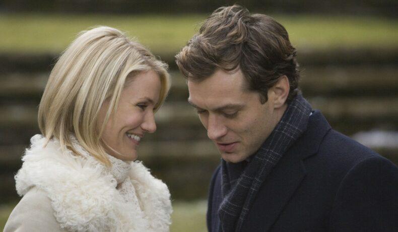 Cameron DIaz și Jude Law în The Holiday