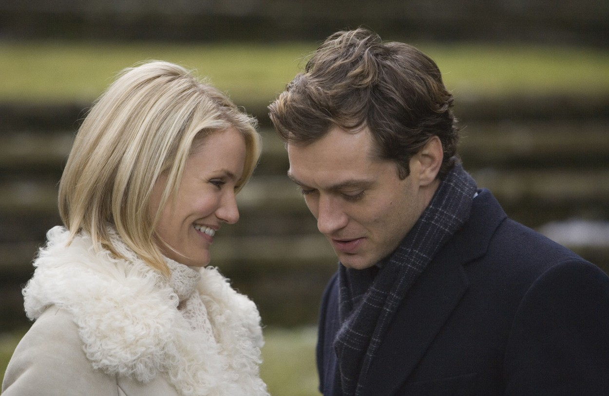 Cameron DIaz și Jude Law în The Holiday