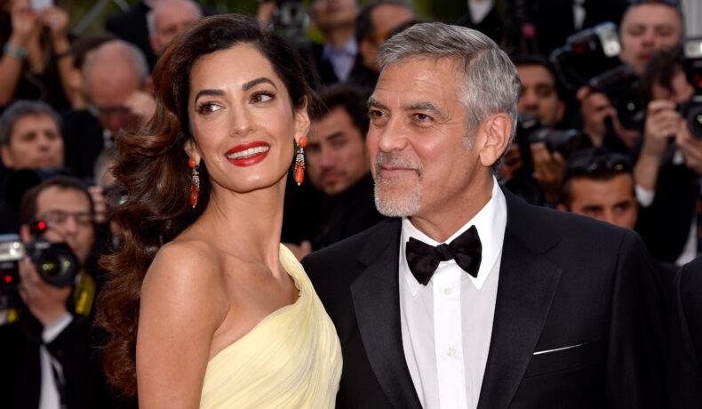 George și Amal Clooney, pe covorul roșu, la festivalul de Film de la Cannes din 2016