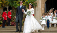 Jack Brooksbank și Printesa Eugenie la nunta lor