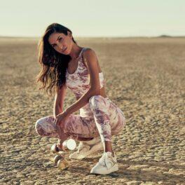 Jen Selter, pozată într-o ținută sport, în timp ce promovează noua colecție a unui brand de haine