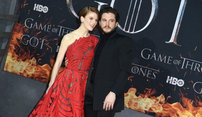 Kit Harington și Rose Leslie, la premiera sezonului 8 Game of Thronesla
