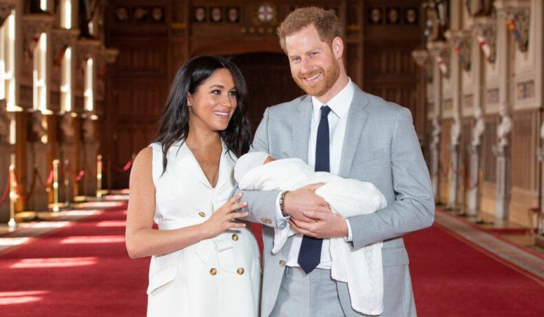 Imagine cu Prințul Harry, Meghan Markle și fiul lor înainte de modificarea certificatului de naștere al lui Archie