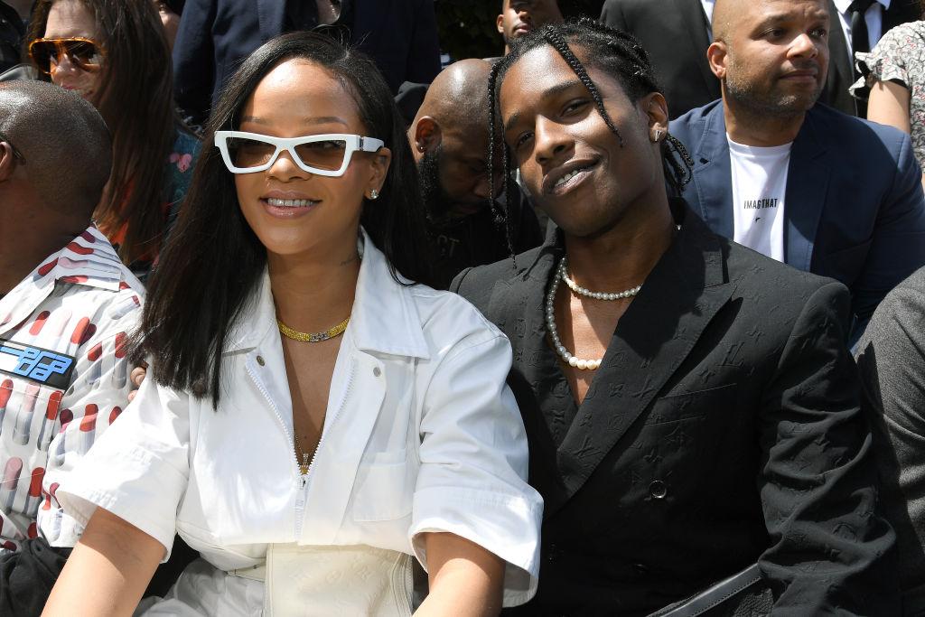 Rihanna și Asap Rocky la Paris Fashion Week