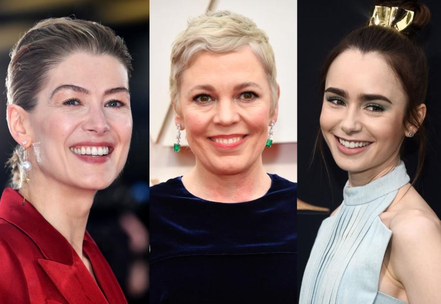 Trei dintre actorii britanici nominalizați la Globurile de Aur: Rosamund Pike, Olivia Colman și Lily Collins