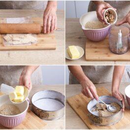 Mod de preparare al blatului de biscuiți cu nuci