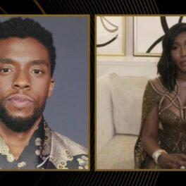 Soția lui Chadwick Boseman ține un discurs în lacrimi la Globurile de Aur