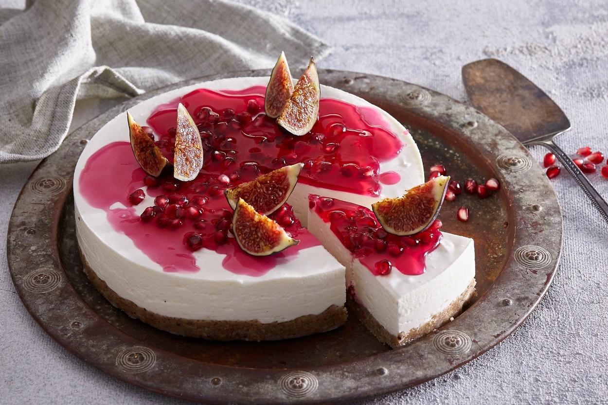 Cheesecake fără coacere porționat, gara de servit