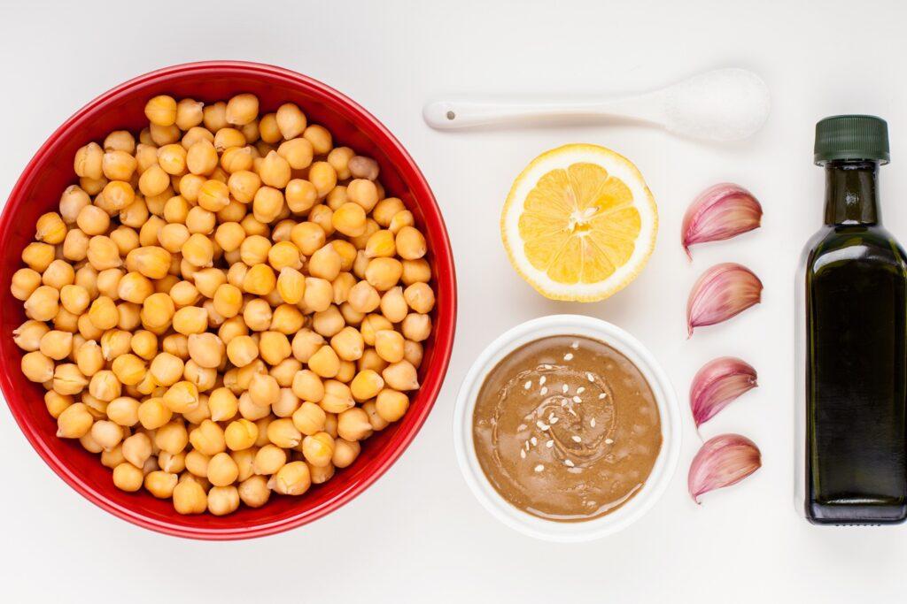 Ingrediente pentru hummus de casă