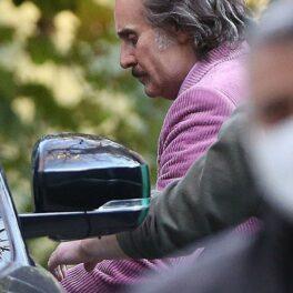Jared Leto, în rolul lui Paolo Gucci, pe platourile de filmare din Milano