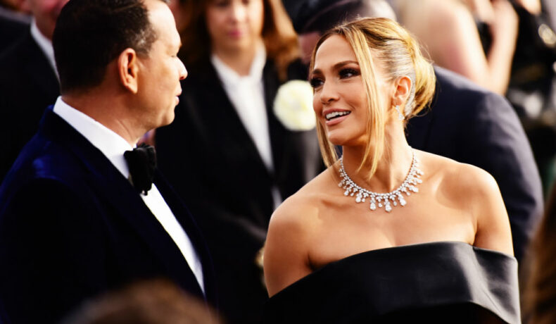Jennifer Lopez și Alex Rodriguez, împreună la un eveniment monden