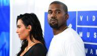 Kanye West și Kim Kardashian pozează împreună pe covorul roșu