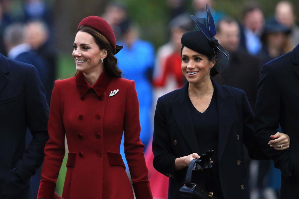 Kate Middleton și Meghan Markle la biserică în ziua de Crăciun