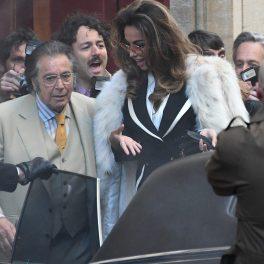 Mădălina Ghenea, alături de Al Pacino, pe platourile de filmare de la House of Gucci