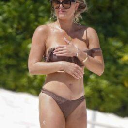 Madison LeCroy, la plajă, în timp ce se relaxează după ce a ținut primele pagini ale tabloidelor
