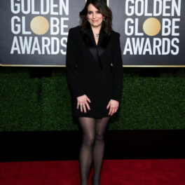 Tina Fey, îmbrăcată într-o ținută all black la Globurile de Aur 2021