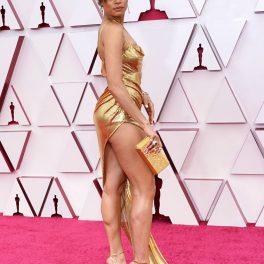 Andra Day, pe covorul roșu, la Premiile Oscar 2021