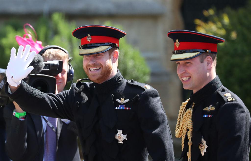 Prințul William și Prințul Harry, la nunta Ducilor de Sussex