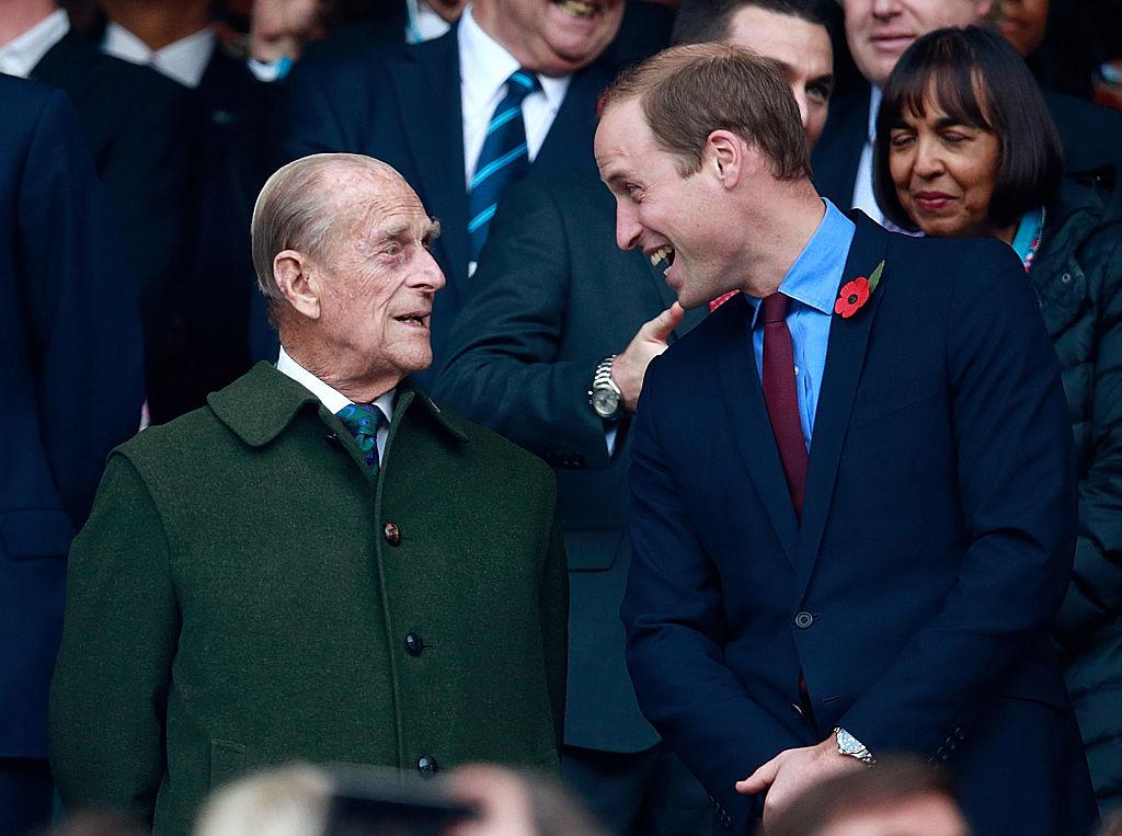 Prințul William și Prințul Philip la Rugby World Cup 2015
