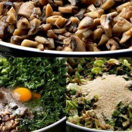 Ingrediente pentru prepararea drobului de ciuperci