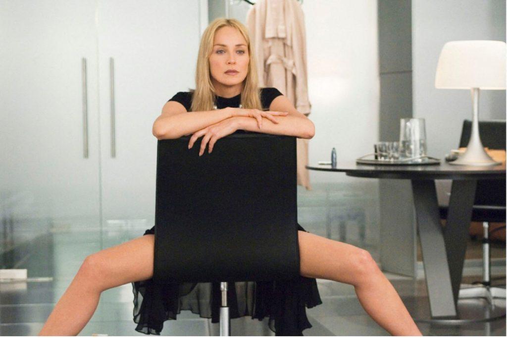 Sharon Stone, imagini de la filmările Basic Instinct