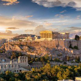 Acropolele din Atena, împreună cu Templul Parthenon