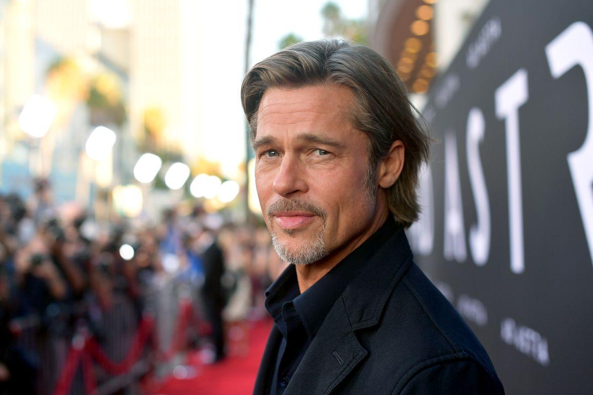 """Brad Pitt, pe covorul roșu, la premiera filmului """"Ad Astra"""""""
