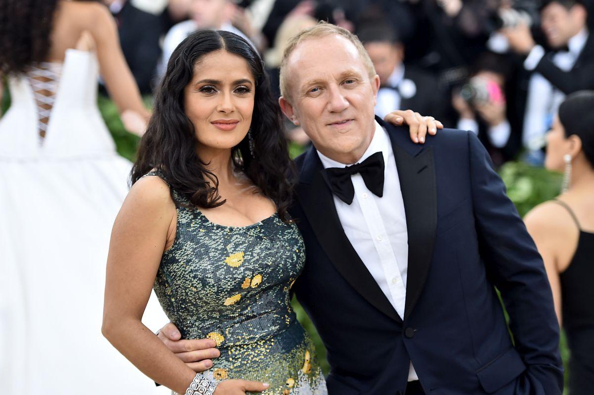 Actrița Salma Hayek, alături de soțul său, Francois-Henri Pinault, la MOMA, în 2018