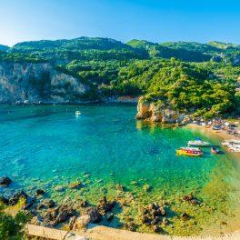 Paleokastritsa, insula Corfu, Grecia