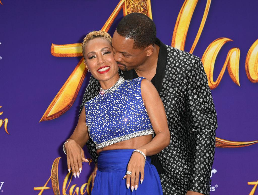 Will Smith, alături de soția sa, la premiera filmului Alladin, în 2019