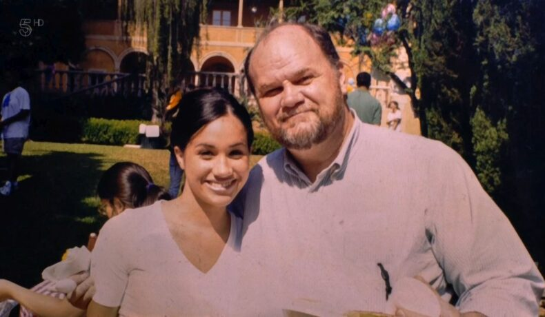 Thomas Markle, alături de fiica lui, Meghan Markle