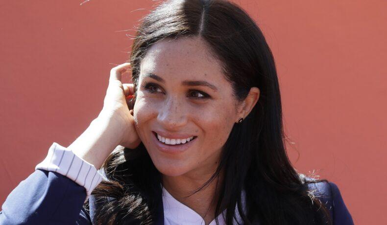 Portret al Ducesei de Sussex, Meghan Markle care a inspirat cele mai populare nume de bebeluși în 2021, în timp ce se afla într-o vizită în Maroc în 2019