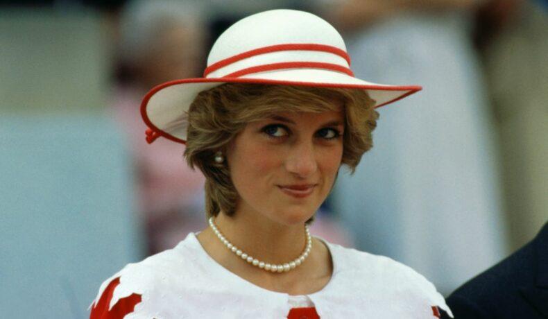 Prințesa Diana purtând o pălărie, în timpul unei vizite în Canada