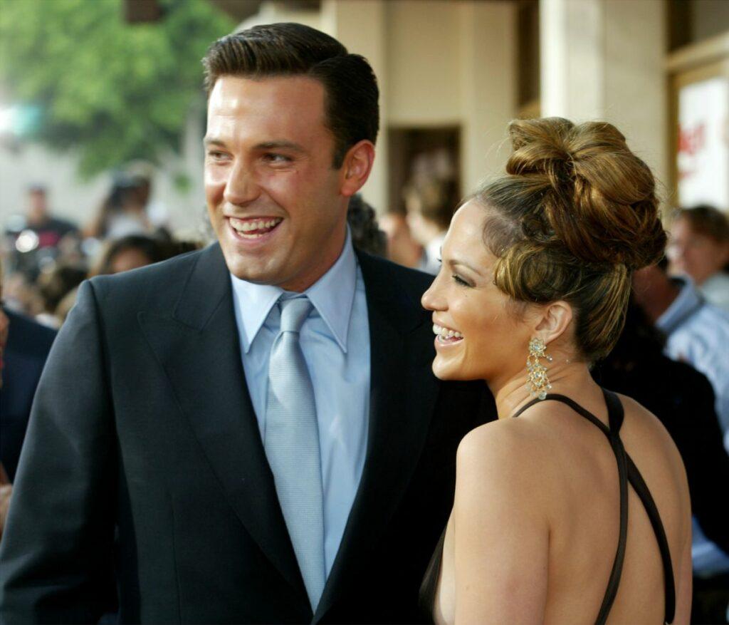 """Jennifer Lopez și Ben Afflex participă la premiera filmului """"Gigli"""", pe 1 august, 2003"""