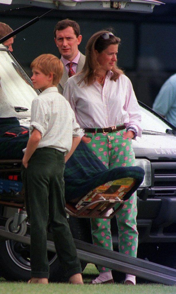 Tiggy Legge-Bourke, alături de Prințul Harry, la un eveniment, în anul 1997