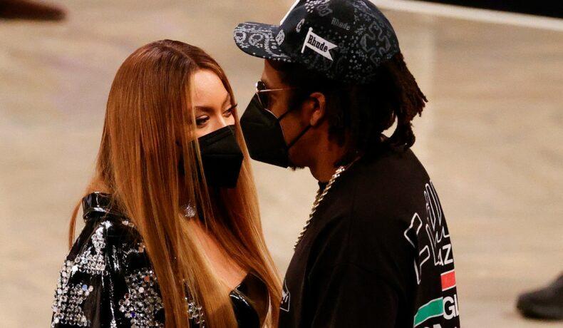 Beyonce și Jay-Z, apropiați, la un eveniment NBA
