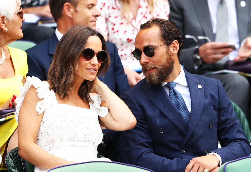 James și Pippa Middleton, la meciul de tenis dintre Nadal și Kukushkin, la Wimbledon, în 2018