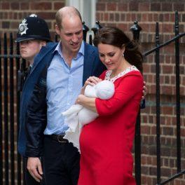 Kate Middleton și Prințul William, la Spitalul St.Mary, la nașterea Prințului Louis