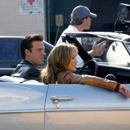 """Jennifer Lopez și Ben Affleck, pe plaotourile de filmare ale filmului """"Gigli"""""""