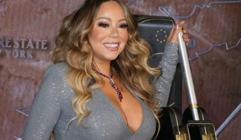 Mariah Carey, la ceremonia de aprindere a luminilor în New York, în 2019