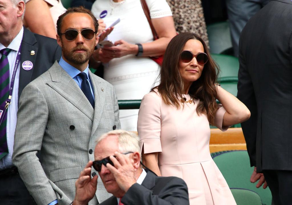 Pippa și James Middleton, la Wimbledon,în 2019, în tribune
