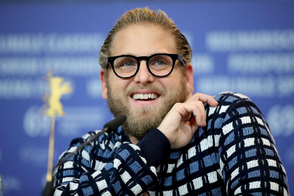 Jonah Hill, la Berlinale International Film Festival, în timpul unei conferințe de presă, în 2019