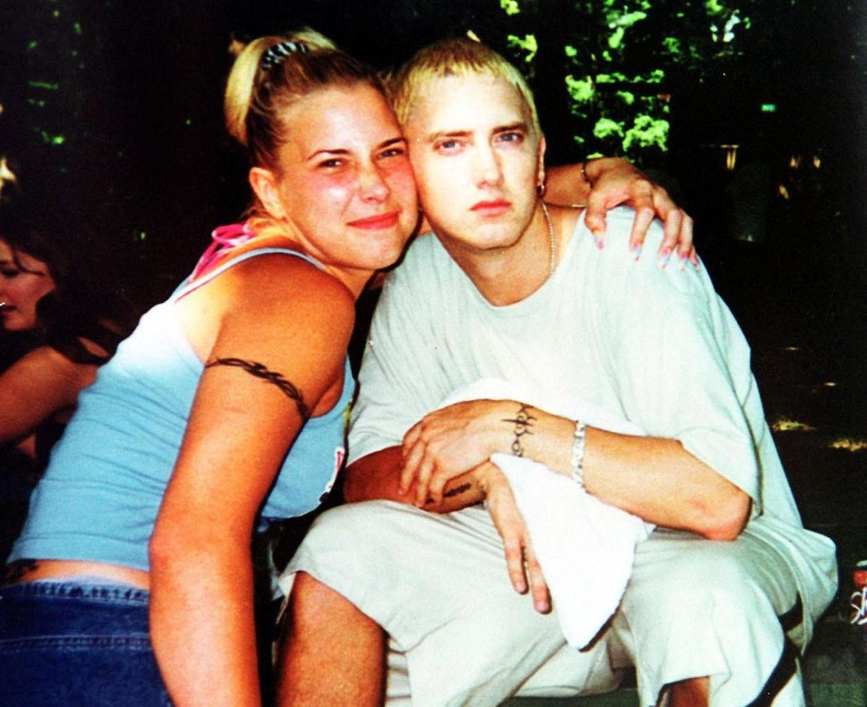 Kim Scott, într-o fotografie cu Eminem, în perioada în care au fost căsătoriți
