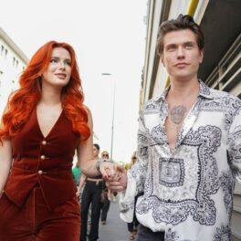 Bella Thorne și Benjamin Mascolo, de mână, la Milano Fashion Week 2021